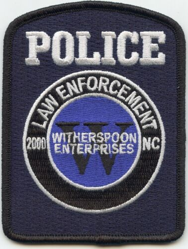 WITHERSPOON ENTERPRISES NORTH CAROLINA NC LAW ENFORCEMENT Special POLICE PATCH