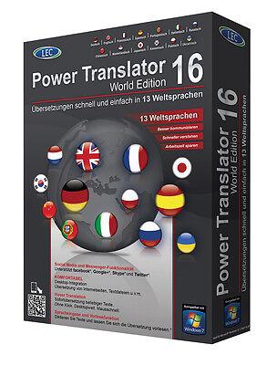 Power Translator 16 World Edition 13 Sprachen CD/DVD inkl. PDF Experte 8 PRO