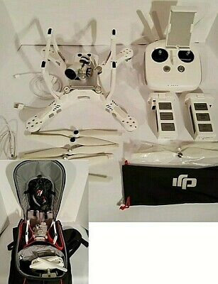 DJI Phantom 3 Advanced Quadcopter Camera Drone - Ashen With Manfrotto Backpack