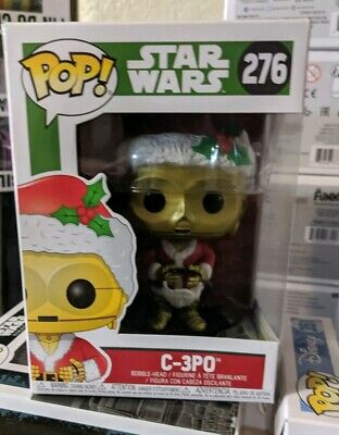 Funko POP! Star Wars Holiday Santa C-3PO #276 Disney Christmas outfit 276