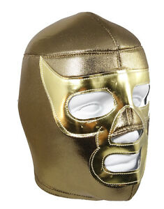 RAMSES NACHO (pro-fit) Adult Lucha Libre Mexican Wrestling Mask - Gold