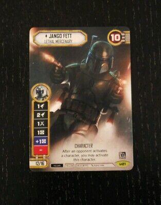 Star Wars Destiny Jango Fett Lethal Mercenary GenCon 2019 Full Art Promo!