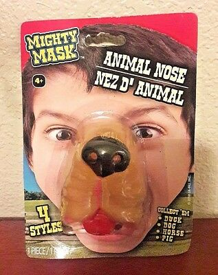 Dog Nose Mask Halloween (New Dog Puppy Nose Soft Rubber Animal Mighty Mask Halloween Child Costume Age)