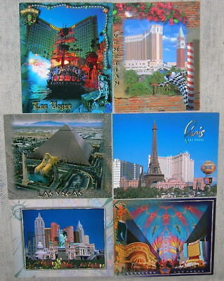 Lot of 6 Vintage Las Vegas Casino Postcards William Carr Collection