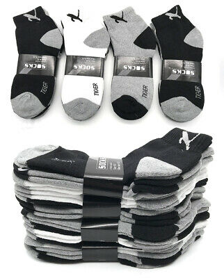 New 3-12 Pairs Mens Ankle Quarter Crew Sports Socks Low Cut Cotton Size 9 -