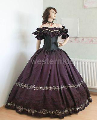 Westernkleid Biedermeierkleid Südstaatenkleid Krinolinenkleid Sissi Kleid KT244