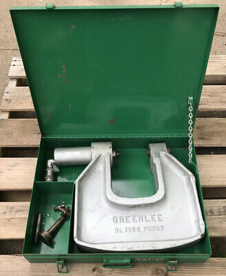 Greenlee 1732 Hydraulic Knockout C-frame Punch Drive 12 To 4 Inch W Case