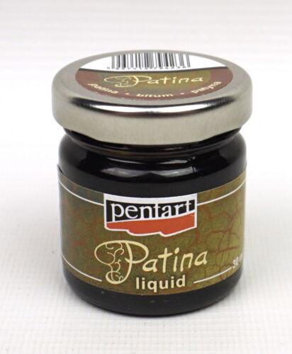 Pentart Liquid Patina 30ml Bitumen for Antiquing Decoupage