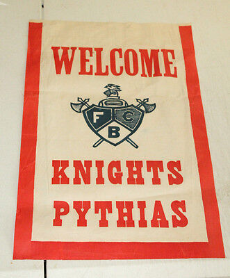 VINTAGE KNIGHTS PYTHIAS FCB FLAG BANNER 11'' X 17''