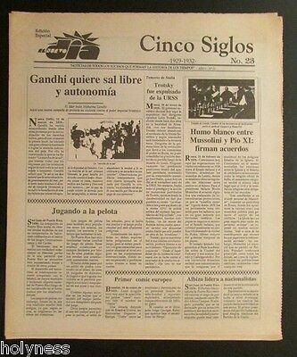 El Nuevo Dia    Vintage Newspaper   Cinco Siglos De Historia   23   Puerto Rico