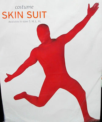 Red Skin Body Jump Suit Halloween Costume Adult - Red Skin Costume