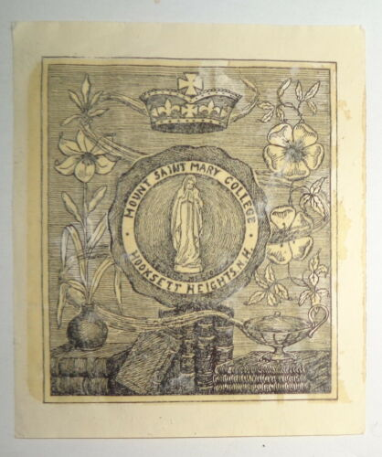 Mount Saint Mary College  Ex Libris Bookplate