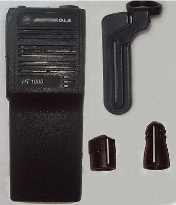 Black Replacement Repair Case Housing For Motorola HT1000 Portable Radio
