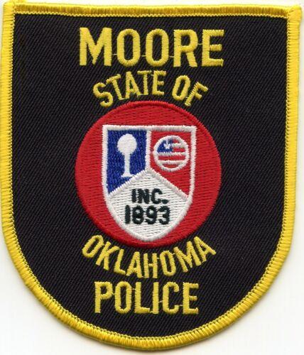 MOORE OKLAHOMA OK POLICE PATCH