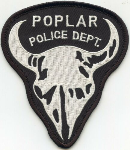 POPLAR MONTANA MT POLICE PATCH