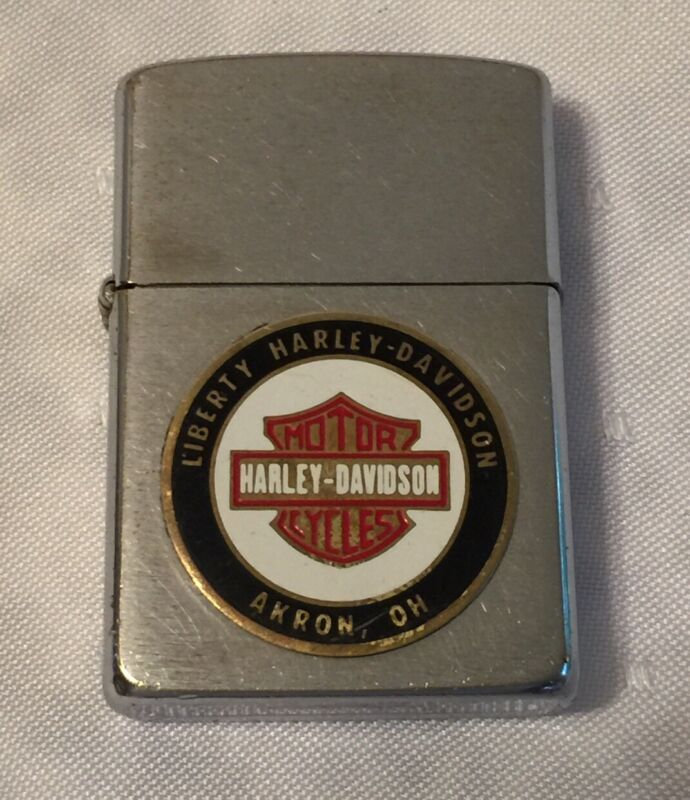 Vintage 1987 ZIPPO Lighter LIBERTY HARLEY DAVISON MOTORCYCLES AKRON OHIO J III