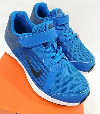 Nike Youth Size 1Y Downshifter 8 Kid's Youth Running Shoes - NEW! Blue Black