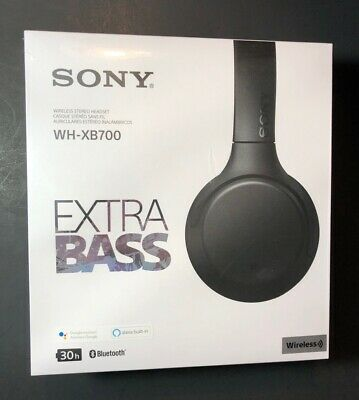 Oficial Sony Bluetooth Inalámbrico Auriculares Estéreo WH-XB700 [Negro Edición]