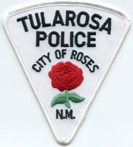 TULAROSA NEW MEXICO NM City of Roses RED ROSE POLICE PATCH