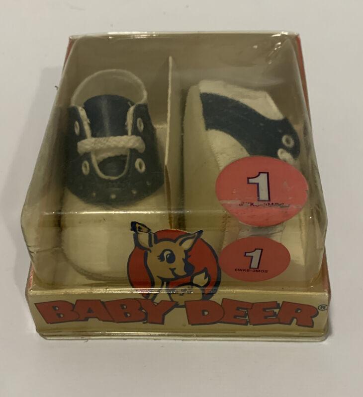 Vintage Baby Deer Shoes New In Box