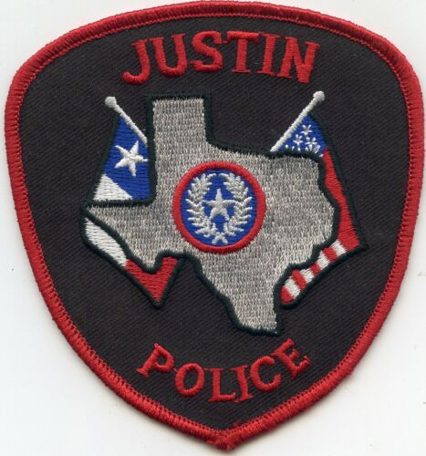 JUSTIN TEXAS TX POLICE PATCH