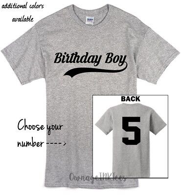 Birthday Boy T-shirt Baseball, Front and Back, Custom, sports, OwnageINK Tees