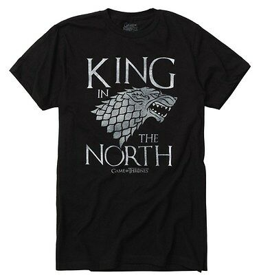 Game Of Thrones King In The North Stark Direwolf T Shirt Nwt Licensed   Official