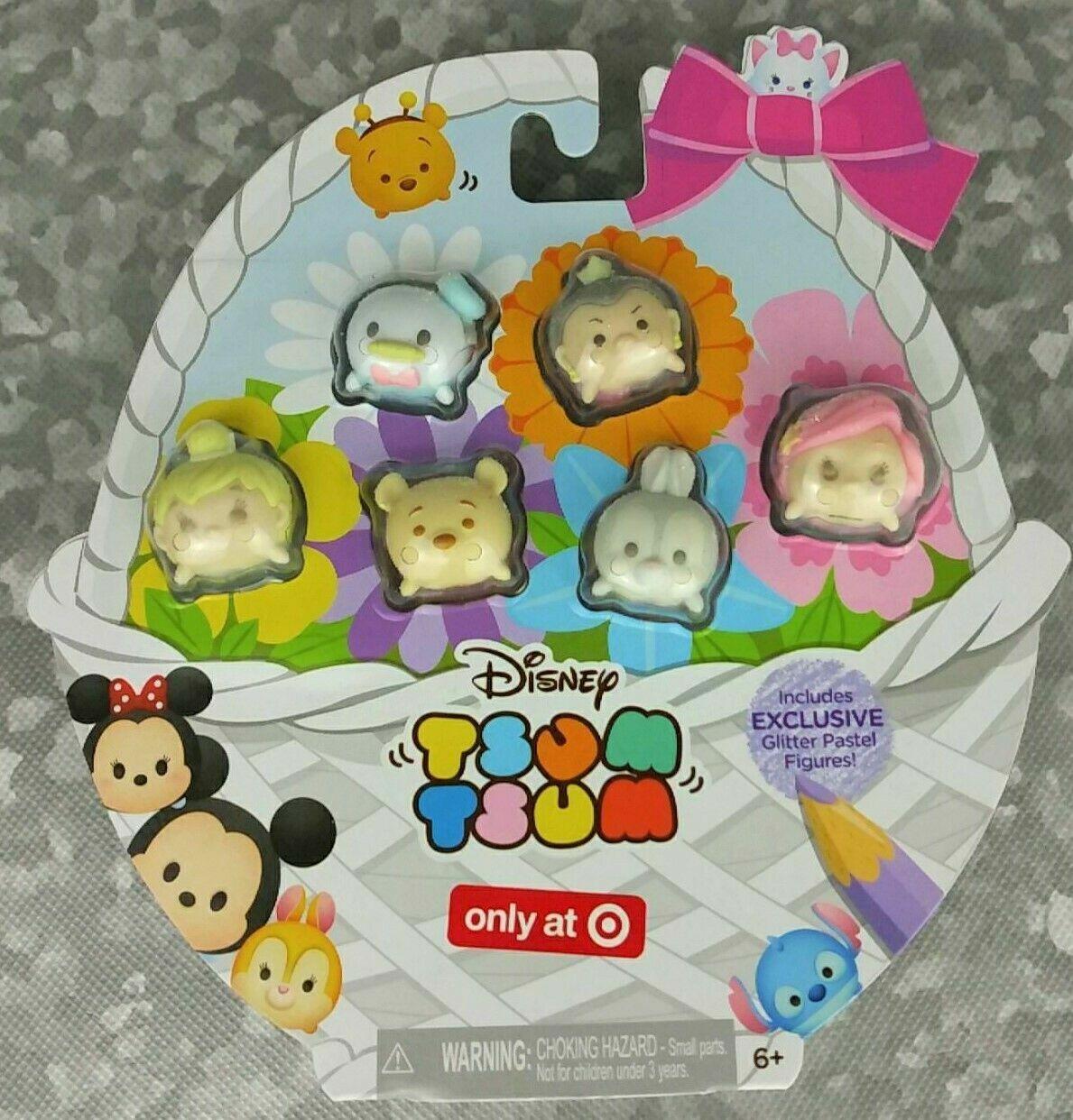 Disney Tsum Tsums Pastel Parade GLITTER Exclusive Set Of 6!