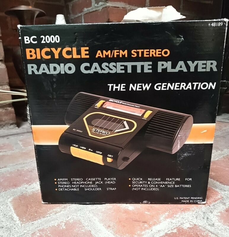 BC 2000 BICYCLE AM/ FM CASETTE PLAYER Brand New Excercise Road Bike Boom Box