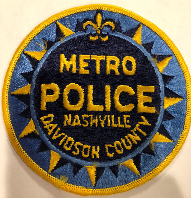 Nashville Metropolitian Police Patch ~ New Condition