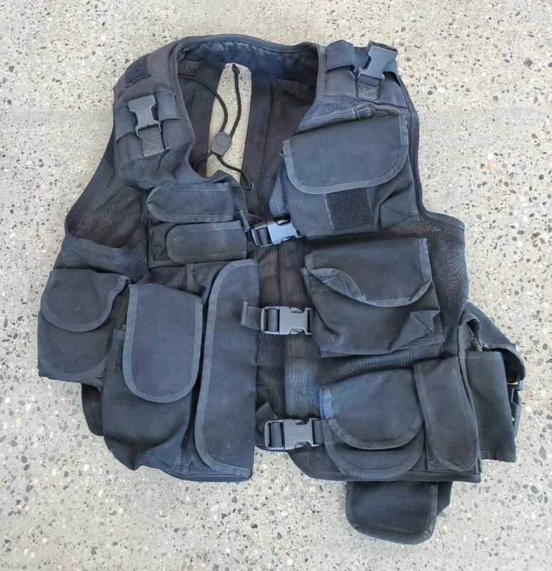Oldschool 1992 Assault / Breacher Vest Black SEAL NSW VBSS SOF