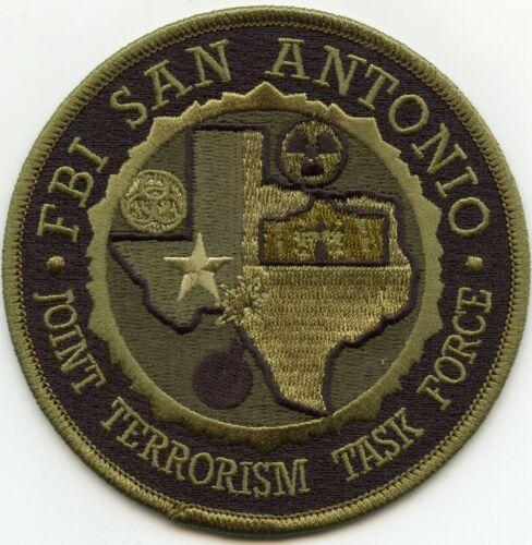 FBI SAN ANTONIO TEXAS TX JOINT TERRORISM TASK FORCE subdued green POLICE PATCH