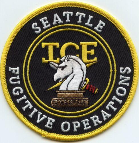 SEATTLE WASHINGTON WA ICE FUGITIVE OPERATIONS colorful POLICE PATCH