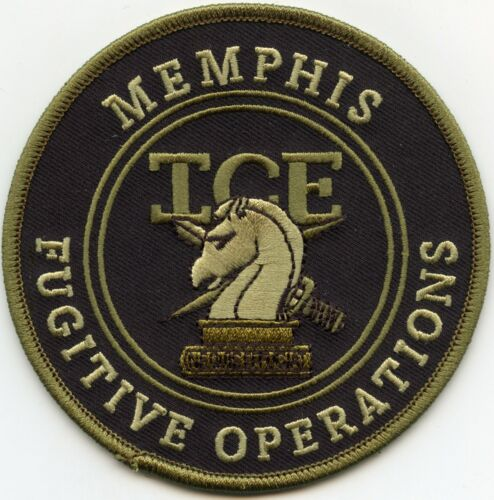 MEMPHIS TENNESSEE TN ICE FUGITIVE OPERATIONS subdued green POLICE PATCH