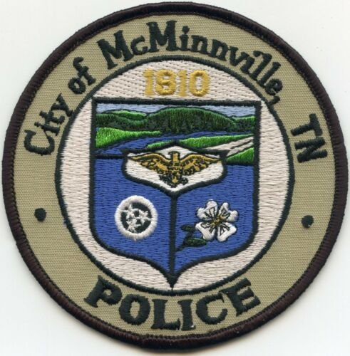 McMINNVILLE TENNESSEE TN POLICE PATCH