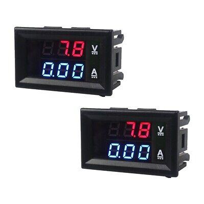 Dc 100v 10a Voltmeter Ammeter Blue Red Led Dual Digital Volt Amp Meter Gauge Set