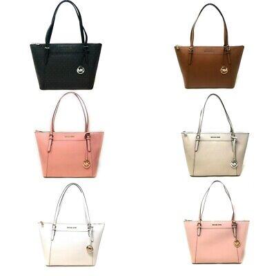 Michael Kors Ciara Large Top Zip Leather Tote Handbag $398