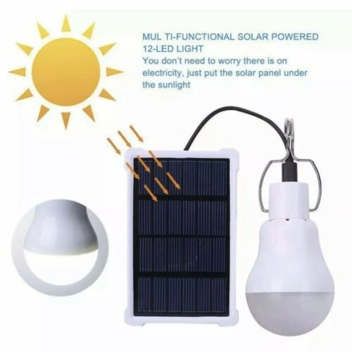 20W Outdoor LED Solar Tent Lamp Yard Portable Camping Bulb L