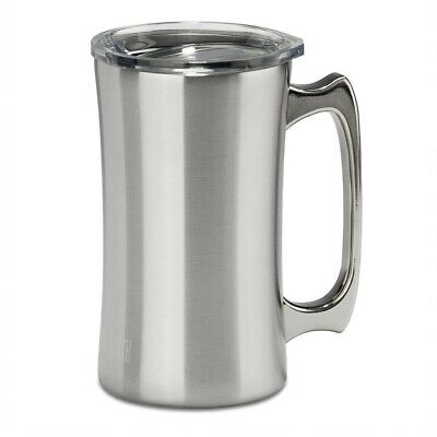 20 Oz Yeti Style Stainless Steel Double Wall Beer Mug Stein with Lid True North - 20 Oz Beer Mug