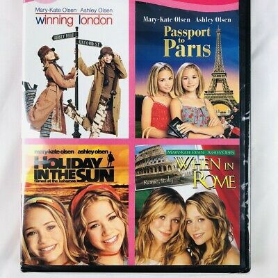 Mary-Kate and Ashley Olsen Twins Movies DVD Holiday in the Sun Passport to Paris