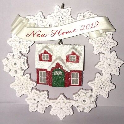"""Hallmark 2012 """"New Home"""" Snowflake Wreath with House Keepsake Ornament NEW for sale  Shipping to Canada"""