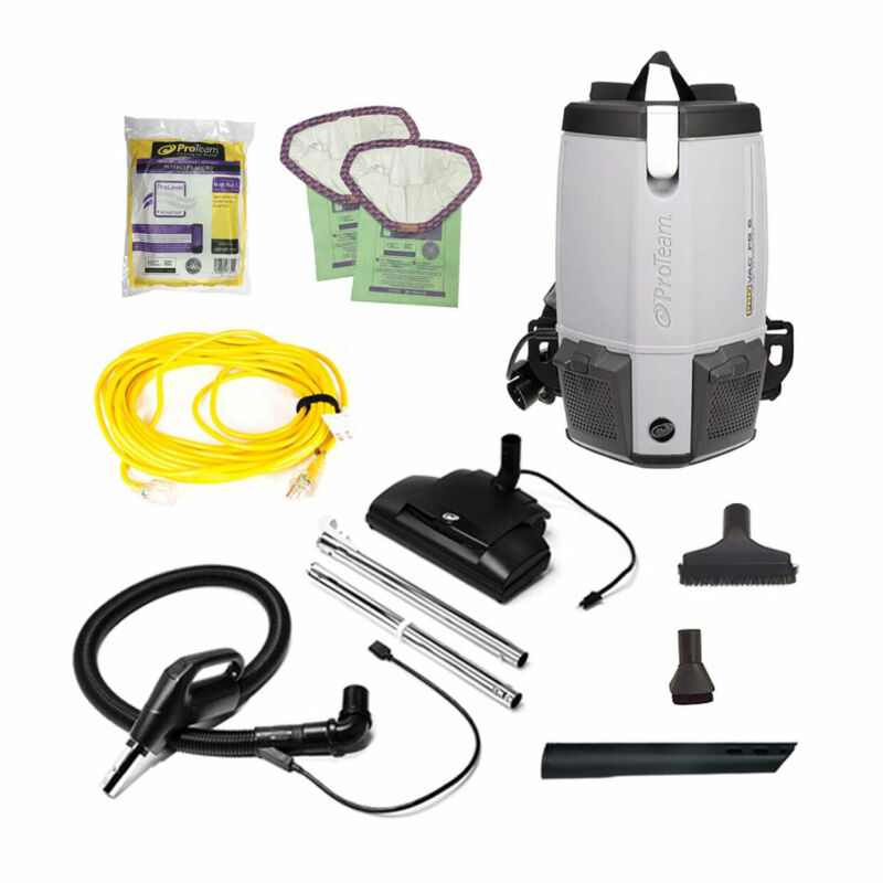 ProTeam 107461 ProVac FS 6 6 Quart Backpack Vacuum with Power Nozzle Tool Kit