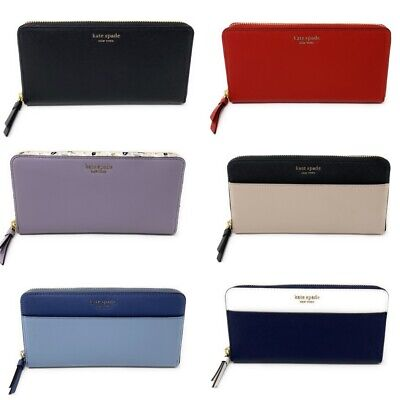 - Kate Spade Cameron Large Continental Leather Zip Around Wallet (Select Style)