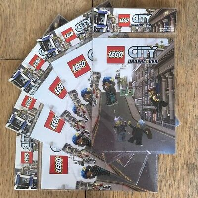 LEGO CITY UNDERCOVER Sticker Sheets x 5 PACKS gift party bags fillers New sealed