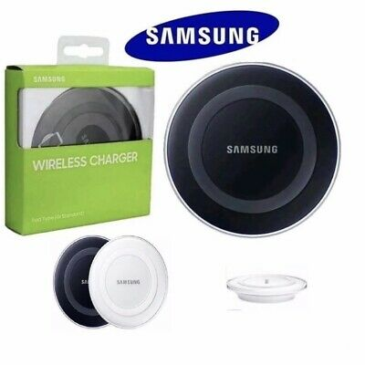 UK Genuine Samsung Apple S6 S7 Edge S8 S9 S10 QI Wireless Charger Charging Pad