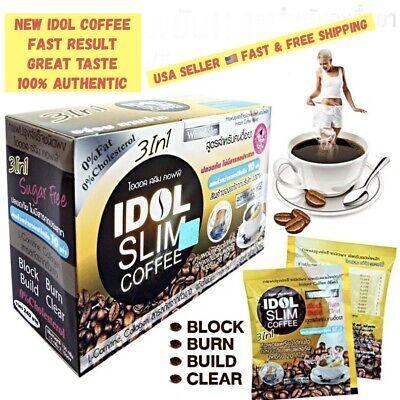 3BOX IDOL NEW SLIM COFFEE POWDER DRINK INSTANT DIET WEIGHT LOSS. USA SELLER