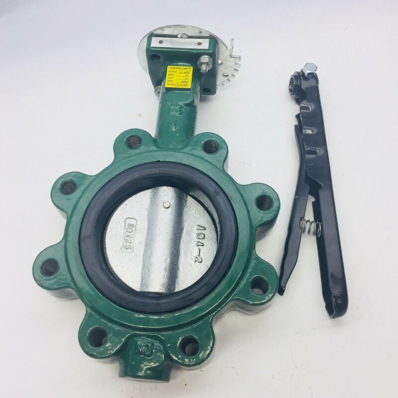 "CENTER LINE 56 #SERIES 200 4"" BUTTERFLY VALVE WITH HANDLE 200PSI"