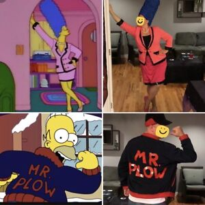 """""""Chanel Suit"""" Marge & """"Mr Plow"""" Homer costumes"""