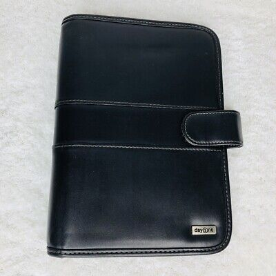 Franklin Covey Black Planner Binder Office Organizer 3 Ring Day 1 One