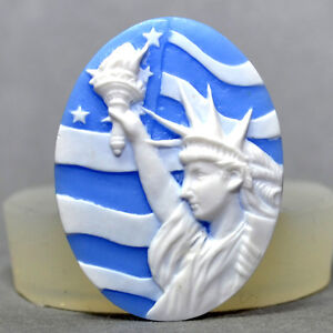 Statue-of-Liberty-CAMEO-SILICONE-MOULD-resin-fimo-plaster-polymer-clay-mold